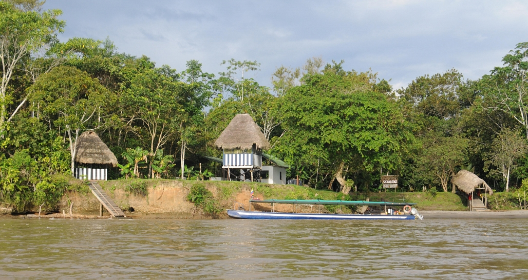 Sacha Lodge napo river _boat